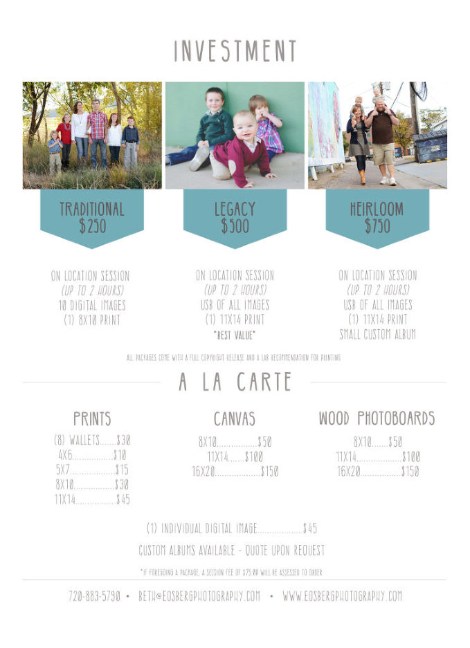 Pricelist back
